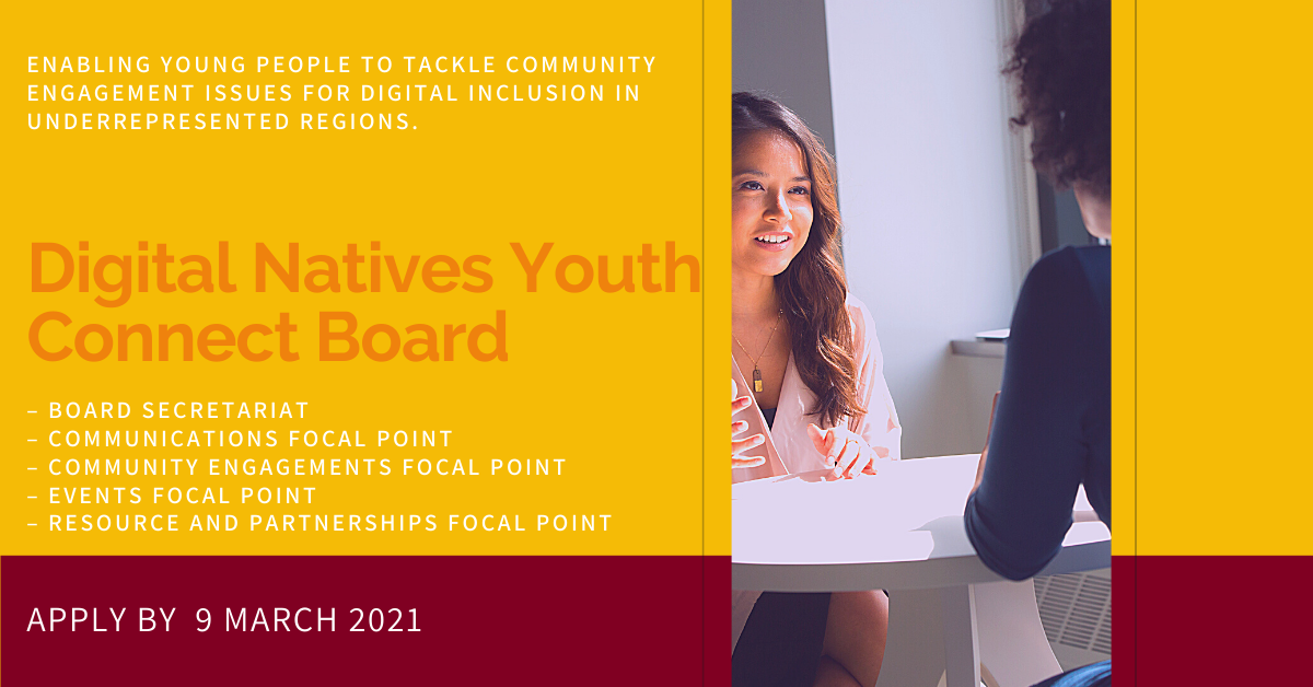 Apply for the Digital Natives Youth Connect Board